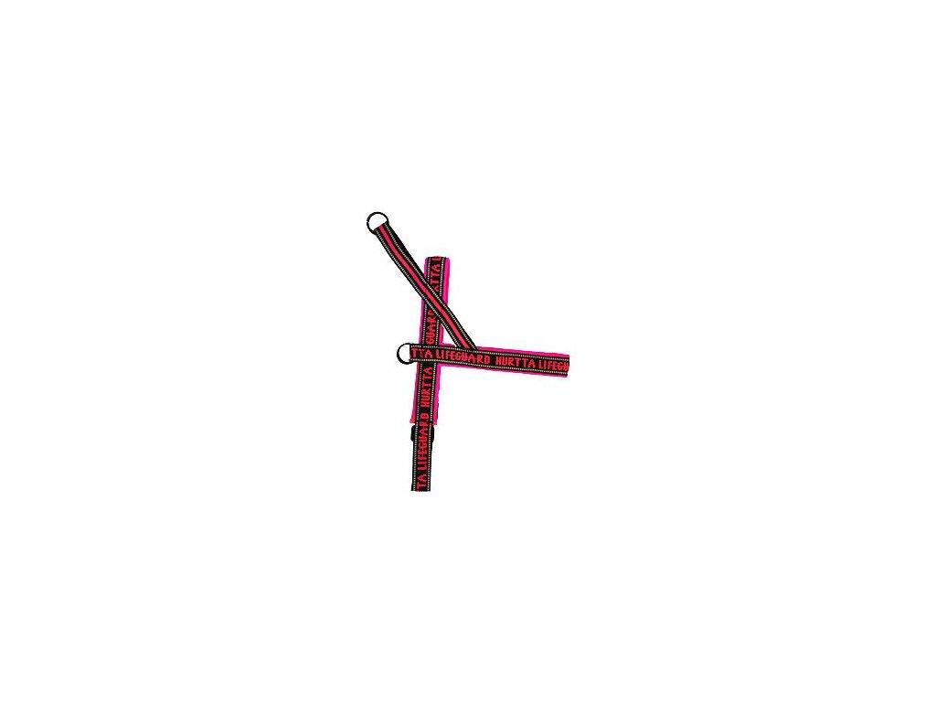 Postroj reflexní Hurtta růžový 90cm