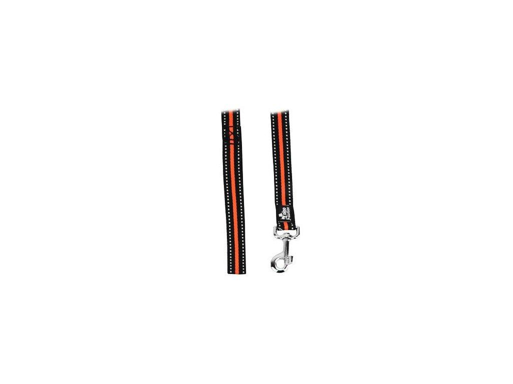 Vodítko DINOFASHION reflexní oranžové 160/2,5cm