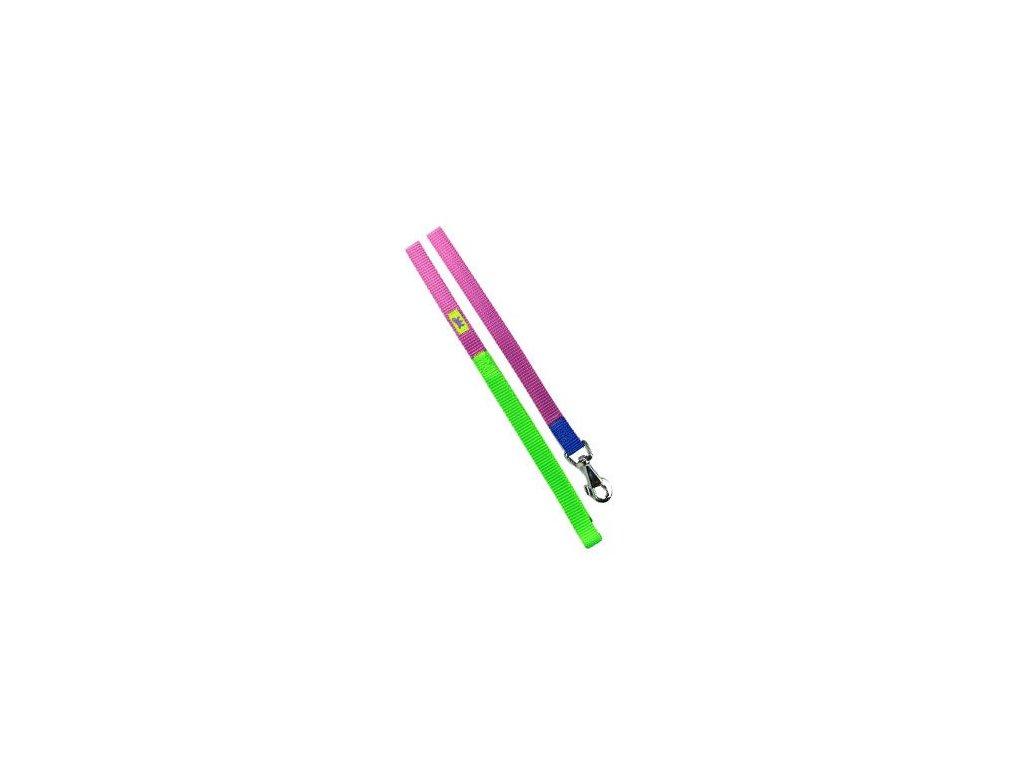 Vodítko nylon CLUB G 15mmx120cm fialovo-zelené FP 1ks
