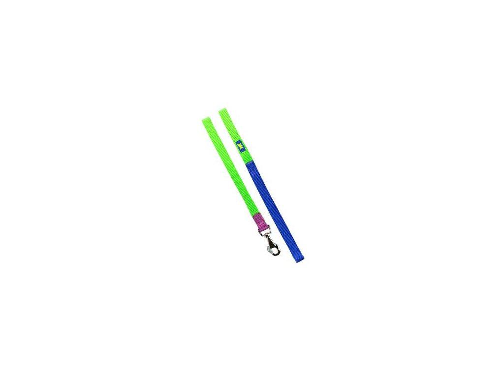 Vodítko nylon CLUB G 15mmx120cm zeleno-modré FP 1ks