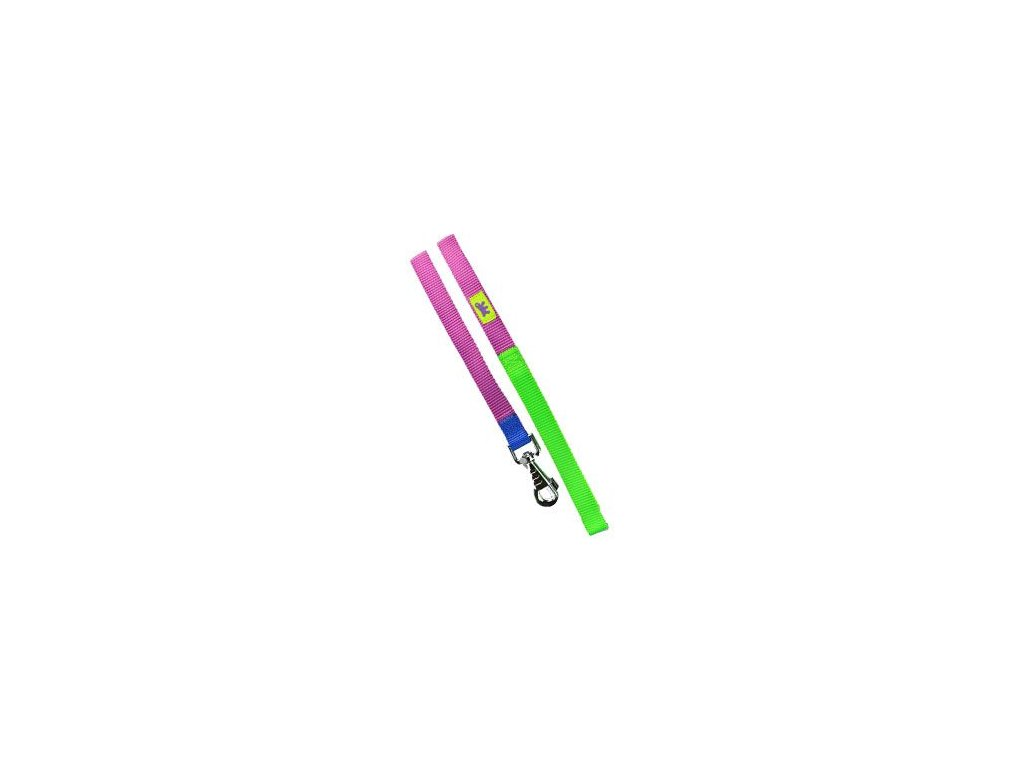 Vodítko nylon CLUB G 20mmx120cm fialovo-zelené FP 1ks