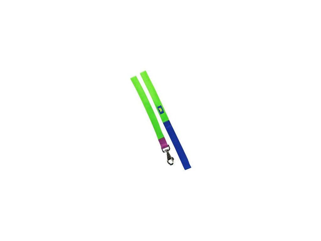 Vodítko nylon CLUB G 25mmx120cm zeleno-modré FP 1ks