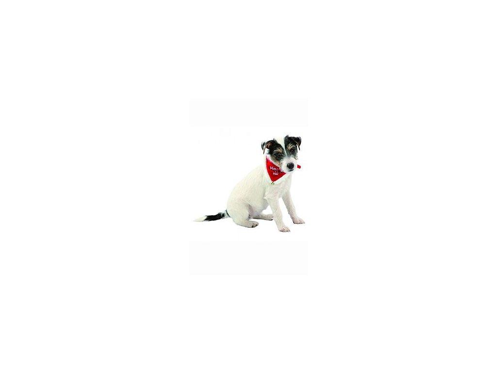 Vánoční šátek pro psa 20-30cm/15mm XS-S TR 1ks