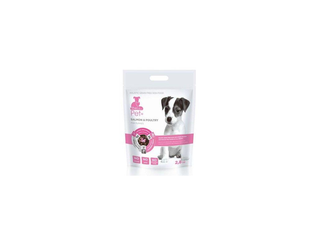 Krmivo Pet+ 3v1 pes SALMON & POULTRY Puppies 2,8kg