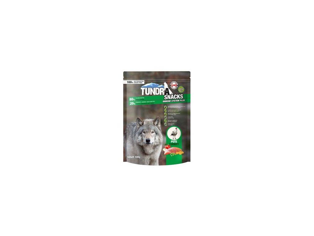 TUNDRA dog snack Turkey Immune Systeme 100g