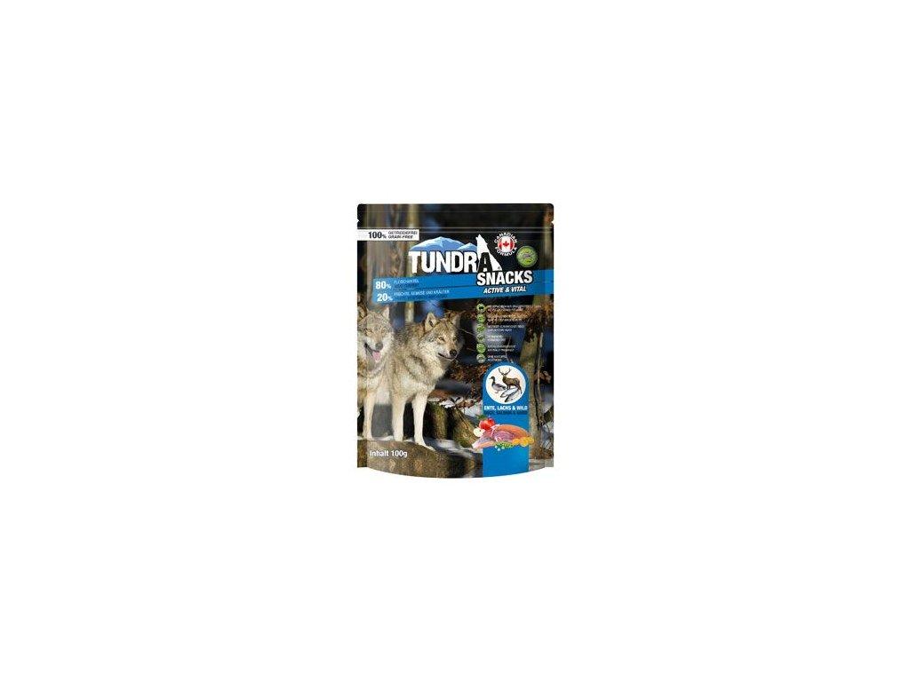 TUNDRA dog snack Duck, Salmon,game Active&Vital 100g