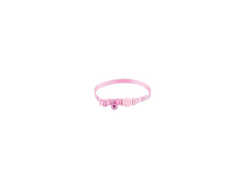 Obojek kočka ETHNIC nylon růžový Zolux