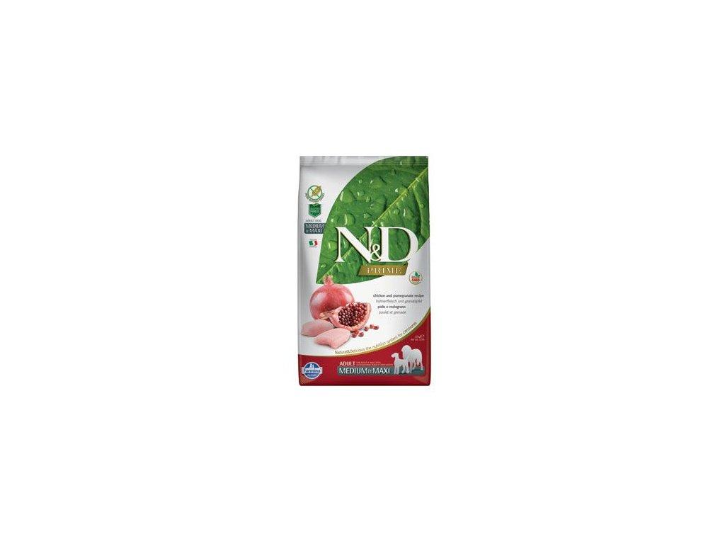 N&D PRIME Dog Grain Free Adult M/L Chicken & Pomegranate 12 kg