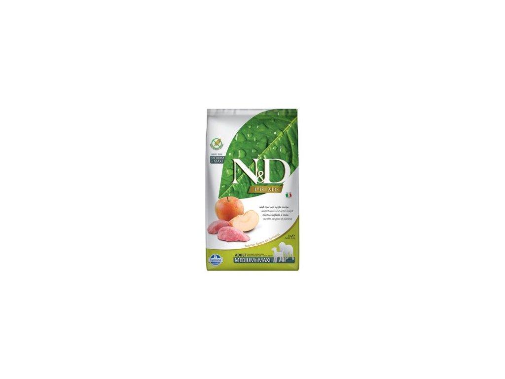 N&D PRIME Dog Grain Free Adult M/L Boar & Apple 12 kg
