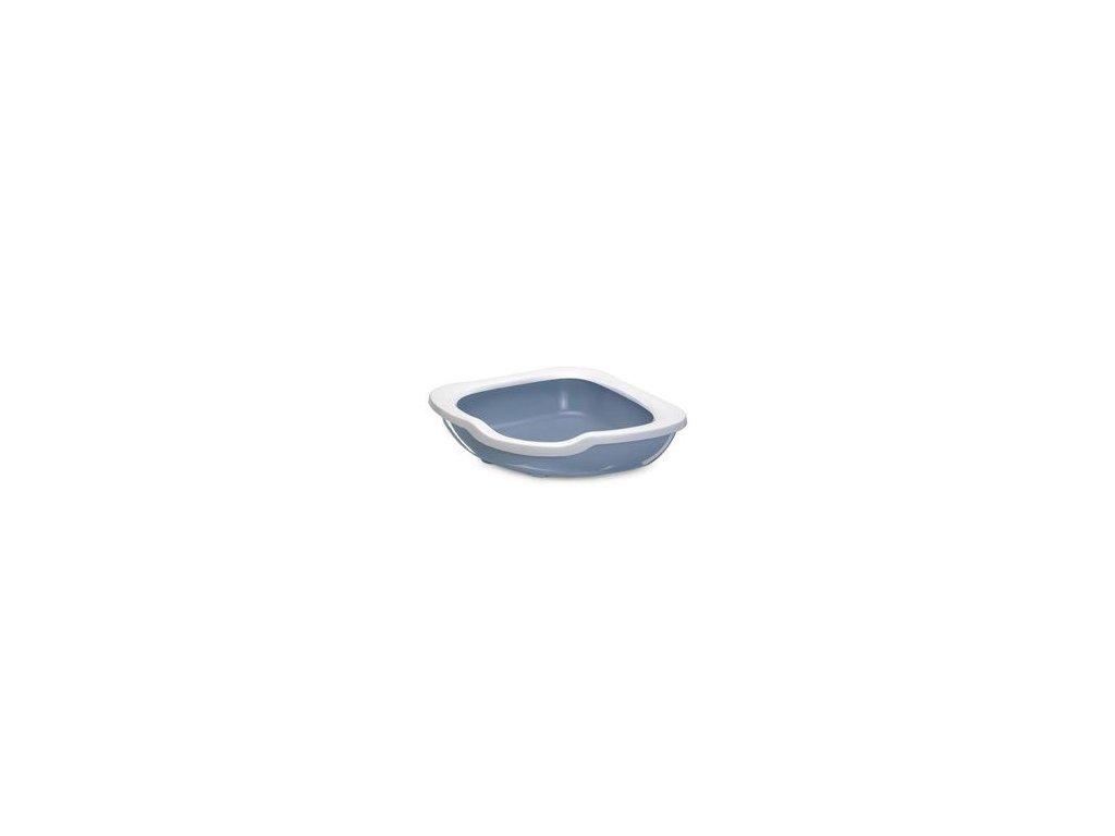 WC kočka rohové s vysokým okrajem modrá 51x51x15,5cm