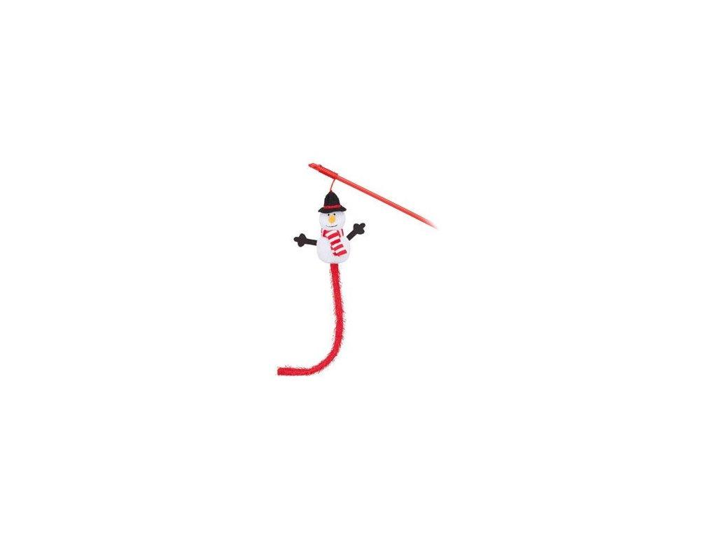 Vánoční Hračka kočka Sněhulák na udici