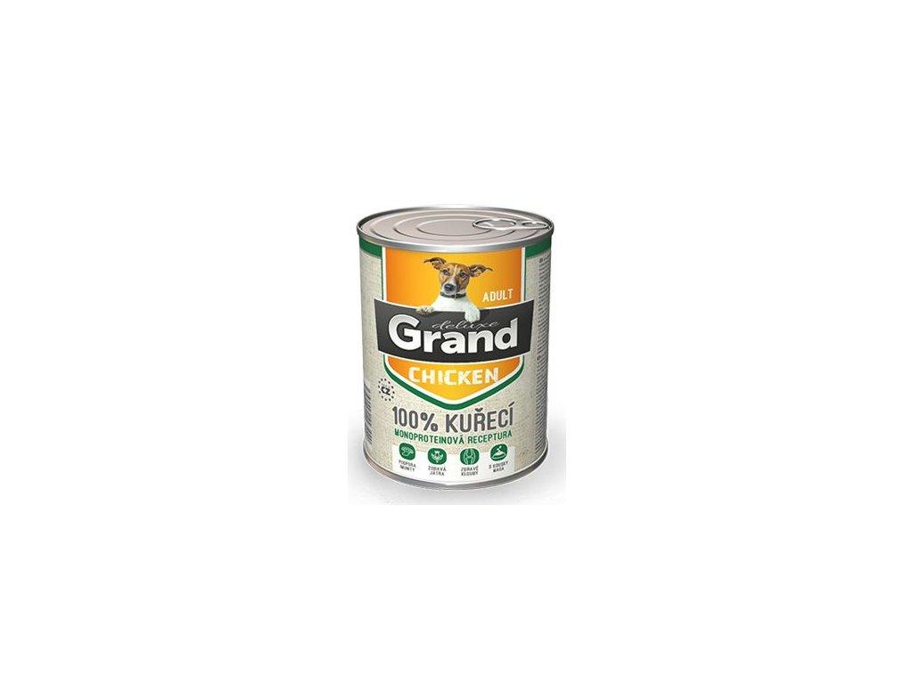 GRAND konz. deluxe pes 100% drůbeží 400g