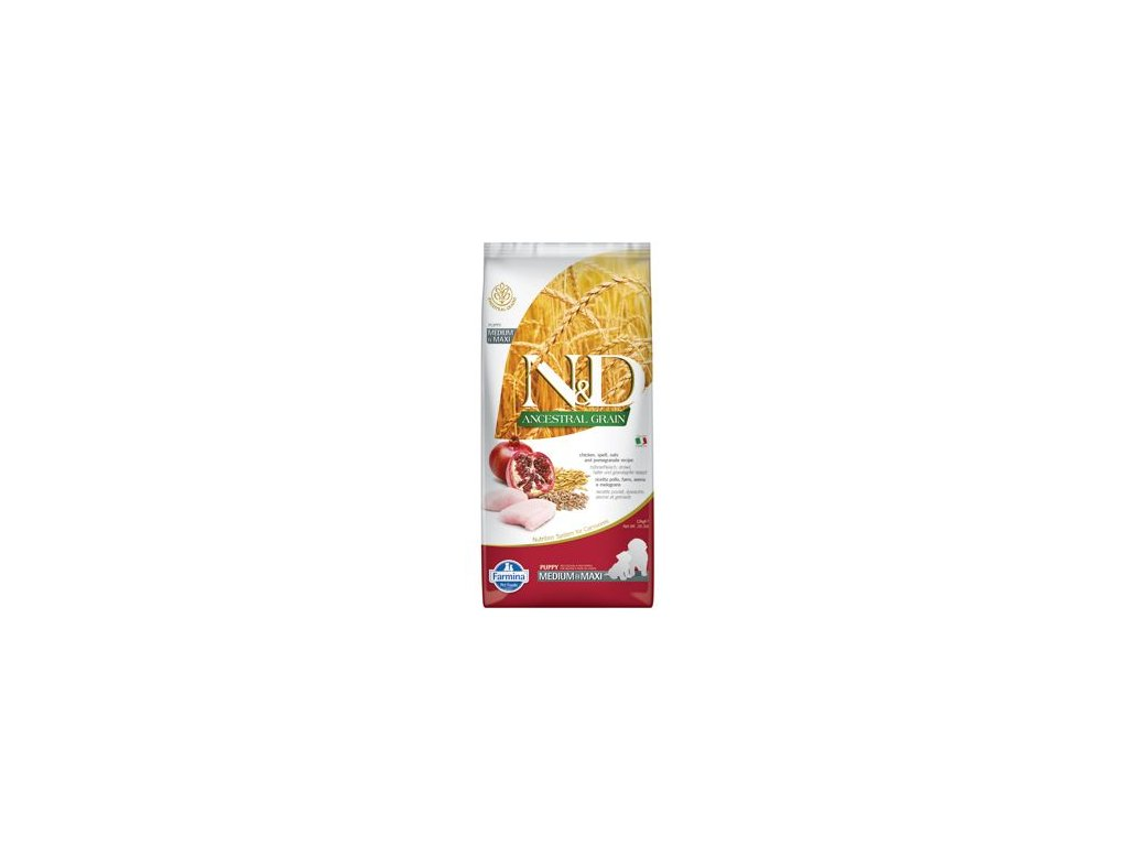 N&D LG DOG Puppy M/L Chicken & Pomegranate