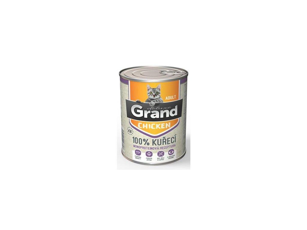 GRAND konz. deluxe kočka 100% drůbeží 400g