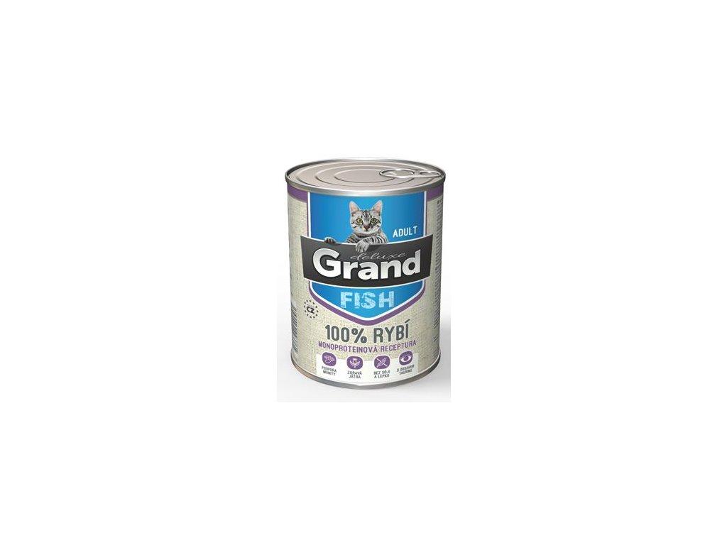 GRAND konz. deluxe kočka 100% rybí 400g