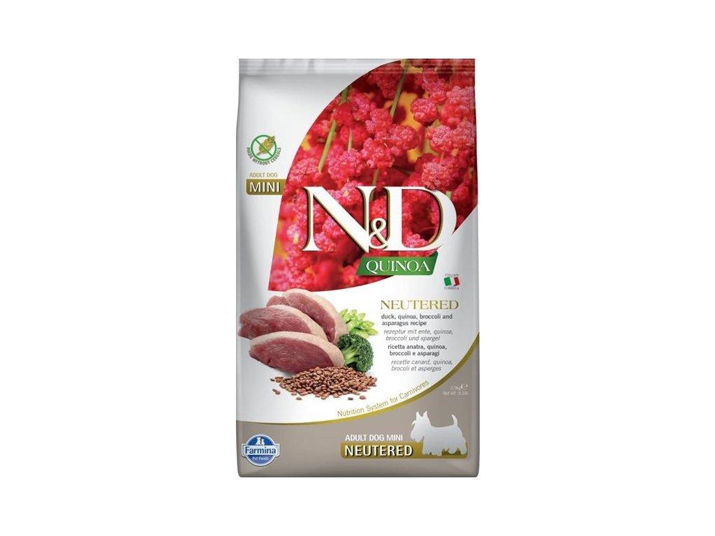 N&D Quinoa DOG Neut. Adult Mini Duck&Br. 2,5kg