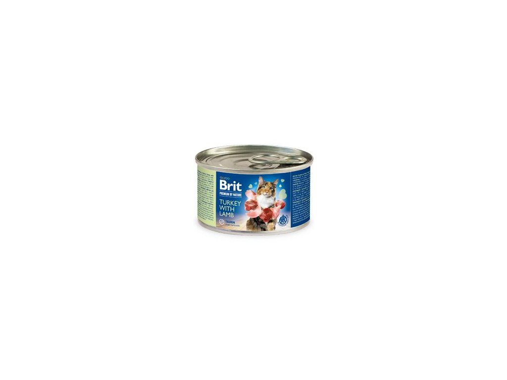 Brit Premium Cat by Nature konz Turkey&Lamb 200g