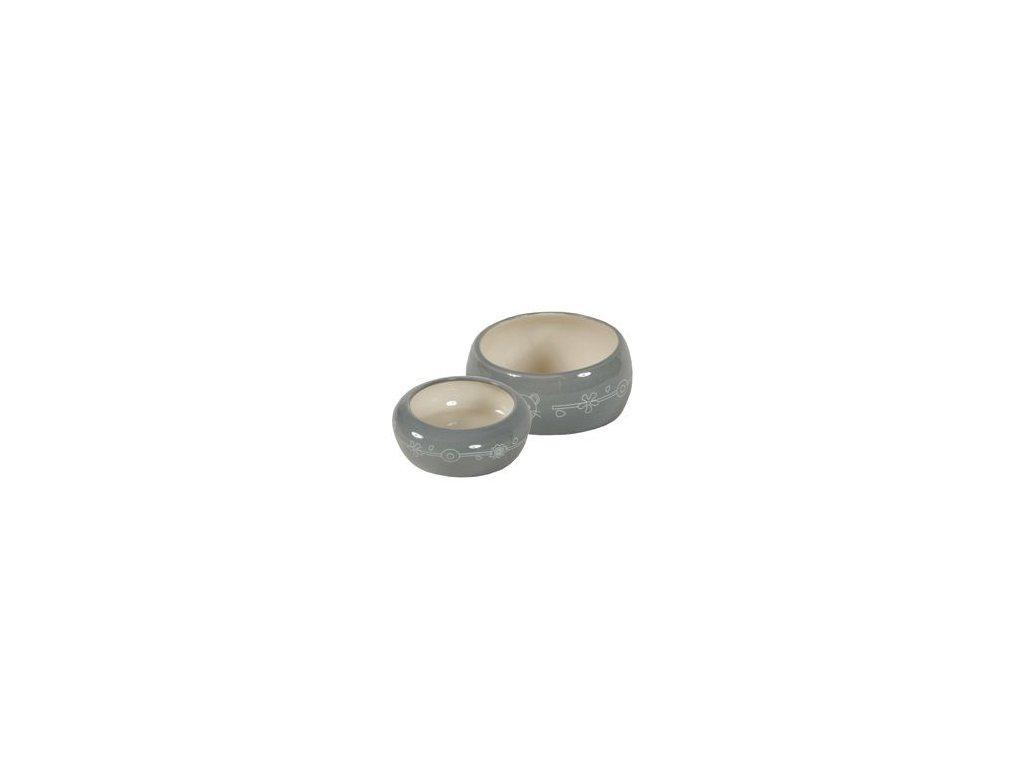 Miska keramická hlodavec 100ml šedá Zolux