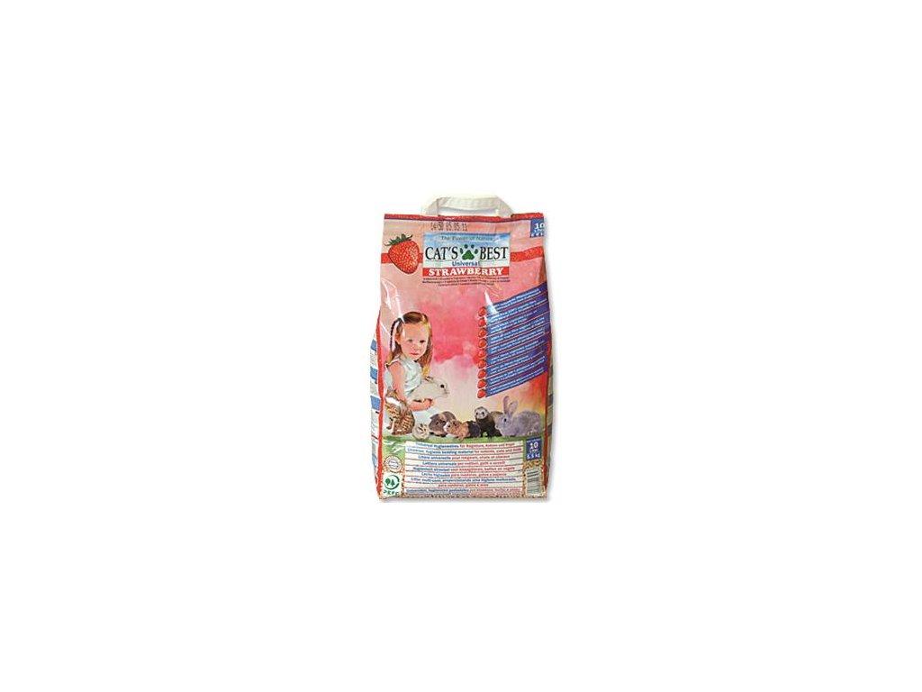 Podestýlka Cat´s Best Universal jahoda 10 l