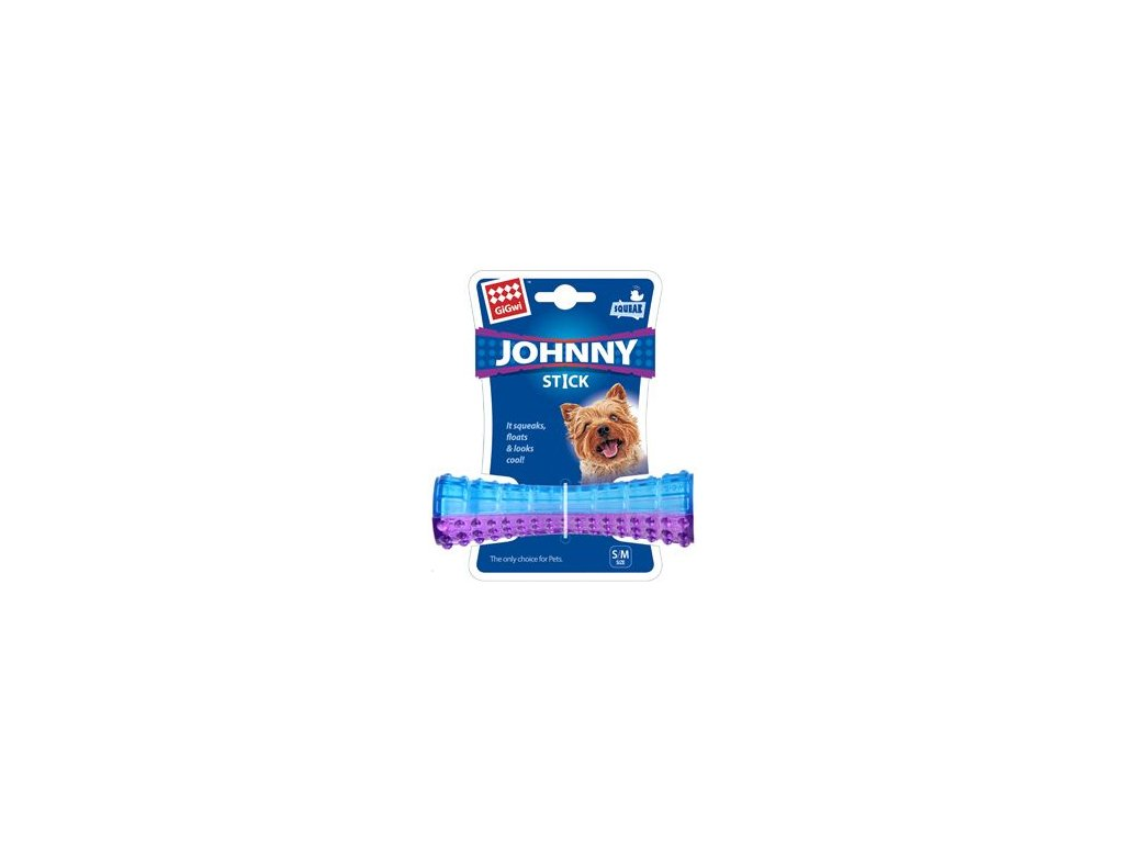 Hračka pes GiGwi Johnny Stick Small aport modro/purpur