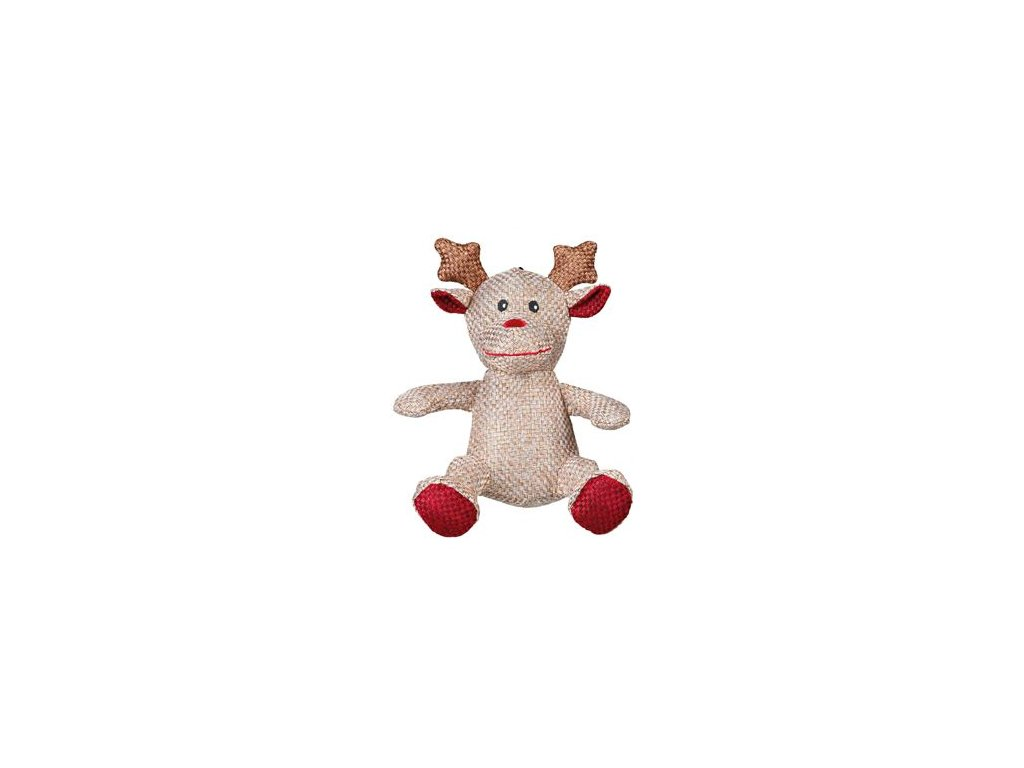 Vánoční Hračka pes Sob s z vlněné látky TR 1ks