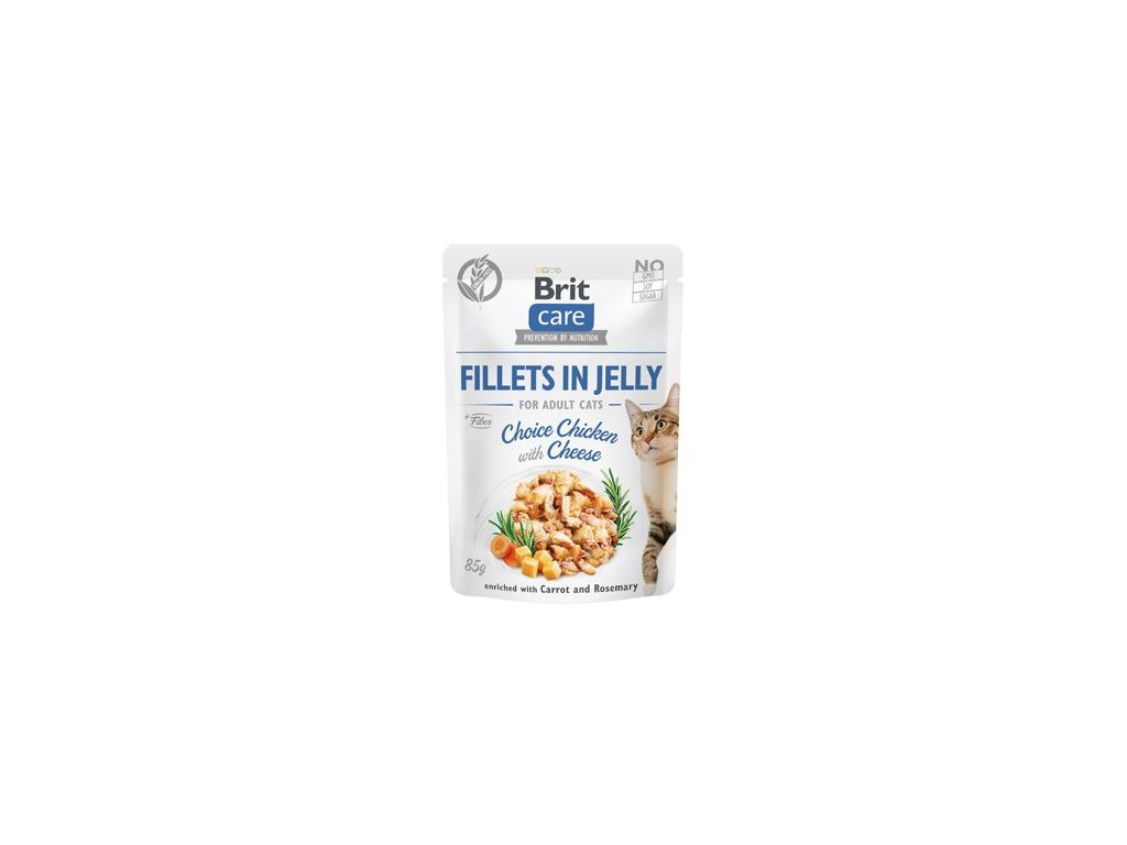 Brit Care Cat Fillets in Jelly Chicken&Cheese 85g
