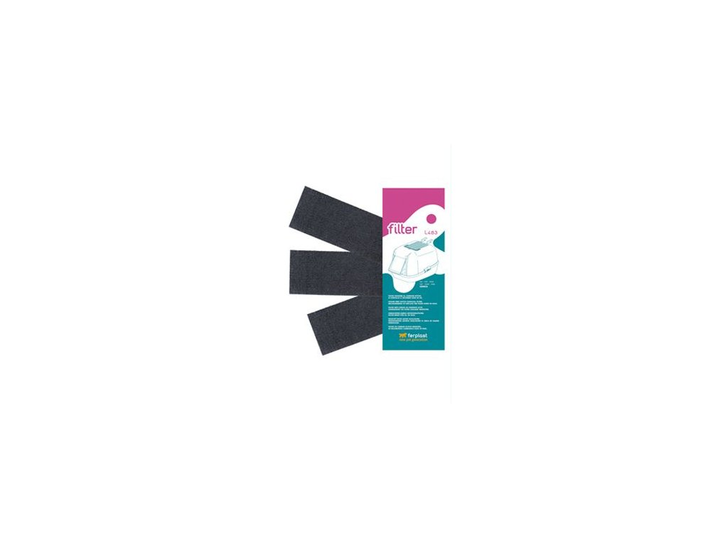Náhr. filtr uhlík. k WC pro kočky GENICA L483 FP