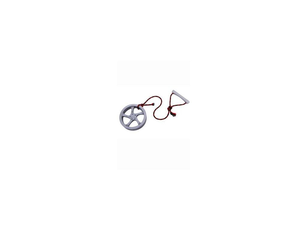 Hračka pes Disk ALU přetahov. plovací vanilkový malý