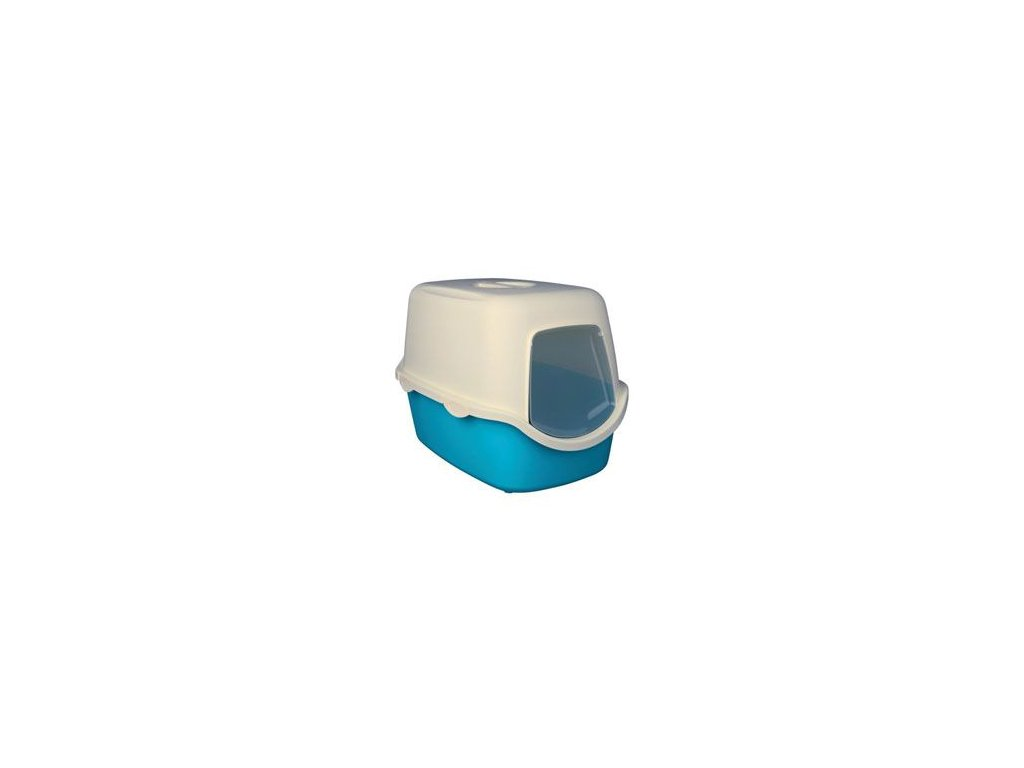 WC kočka kryté domek VICO 40x40x56 TR modro/bílá