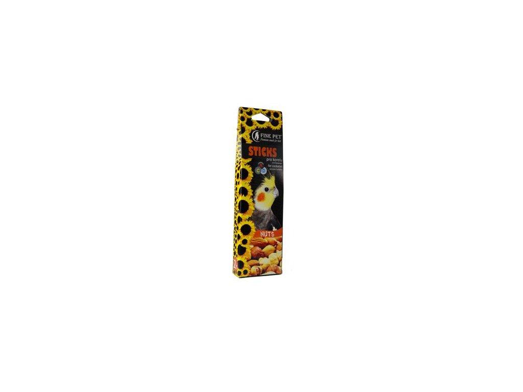FINE PET Tyčinka Korela ořechy 2ks/110g