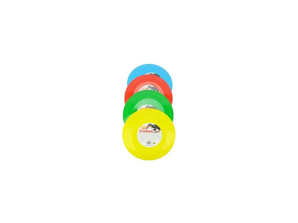 Hračka pes létající talíř plast různé barvy