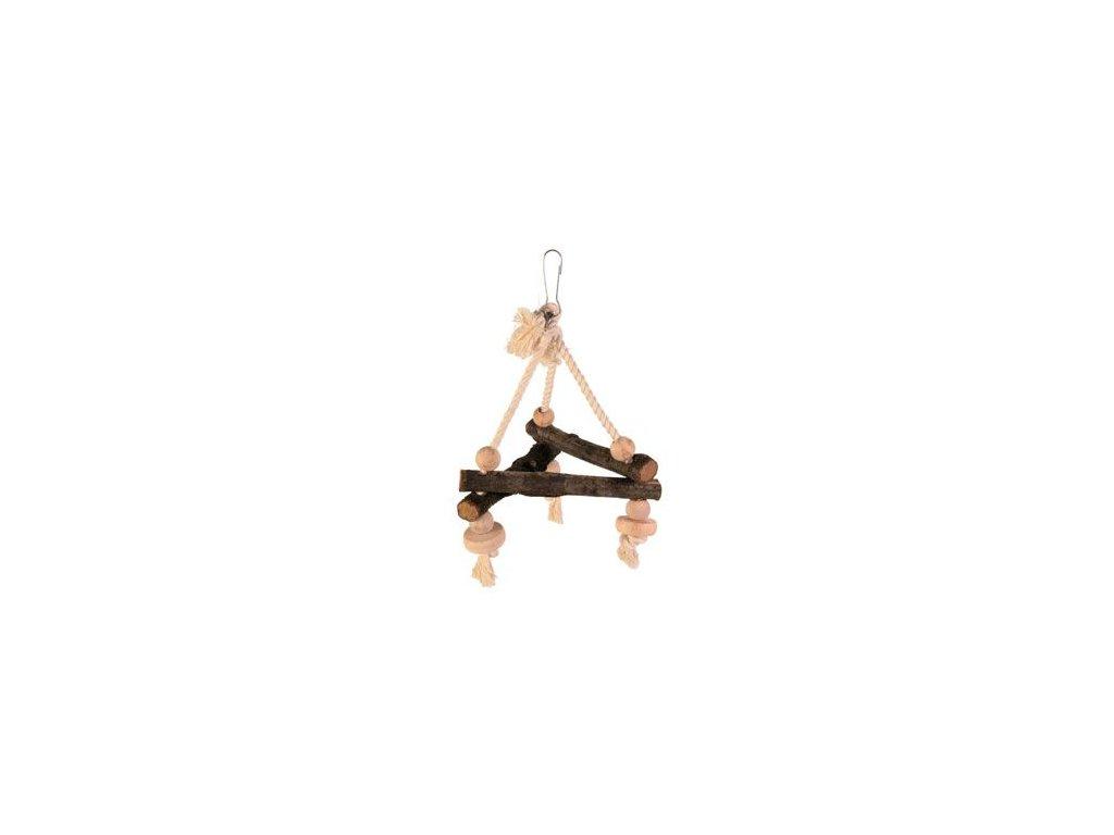 Závěsný dřevěný triangl 16x16x16cm