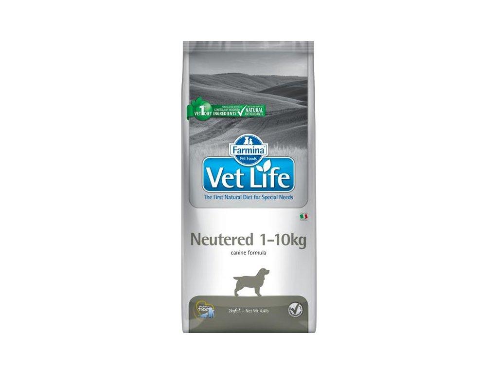 Vet Life Natural Canine Dry Neutered 1-10kg