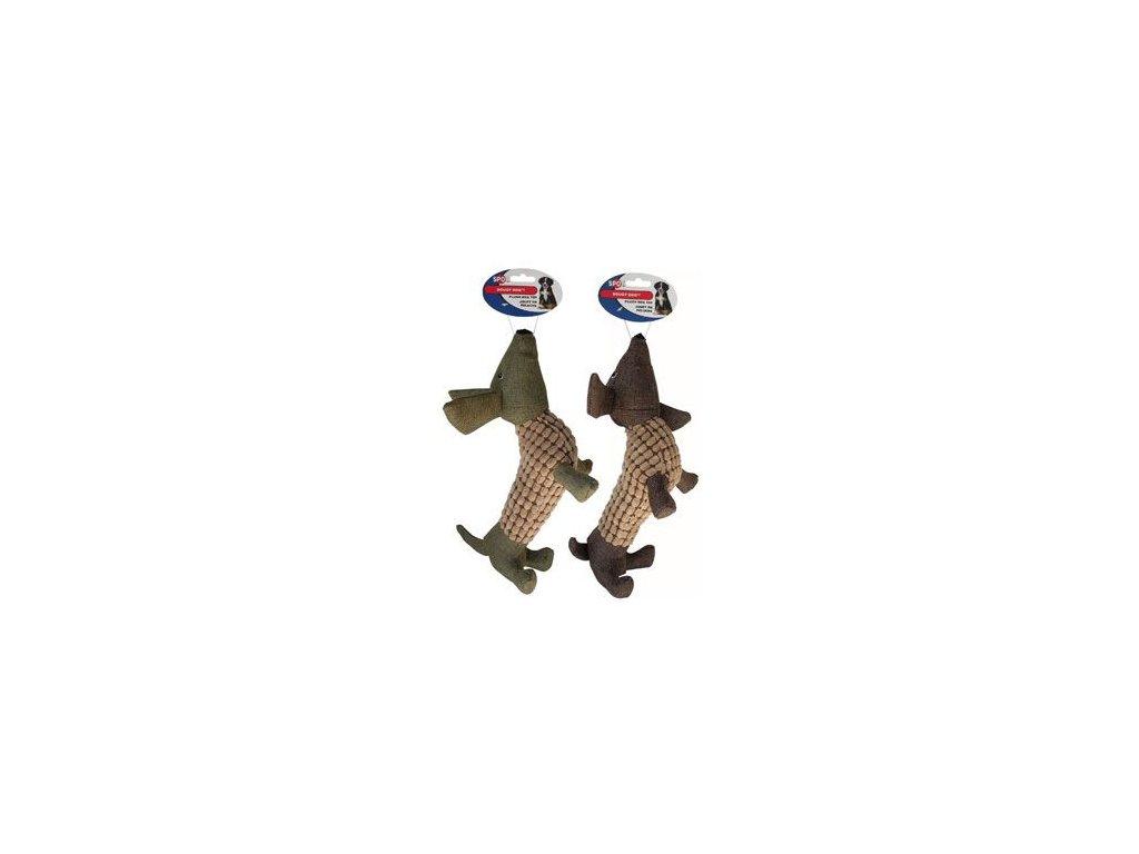 Hračka pes Jezevčík  DOUGY pískací plyšový