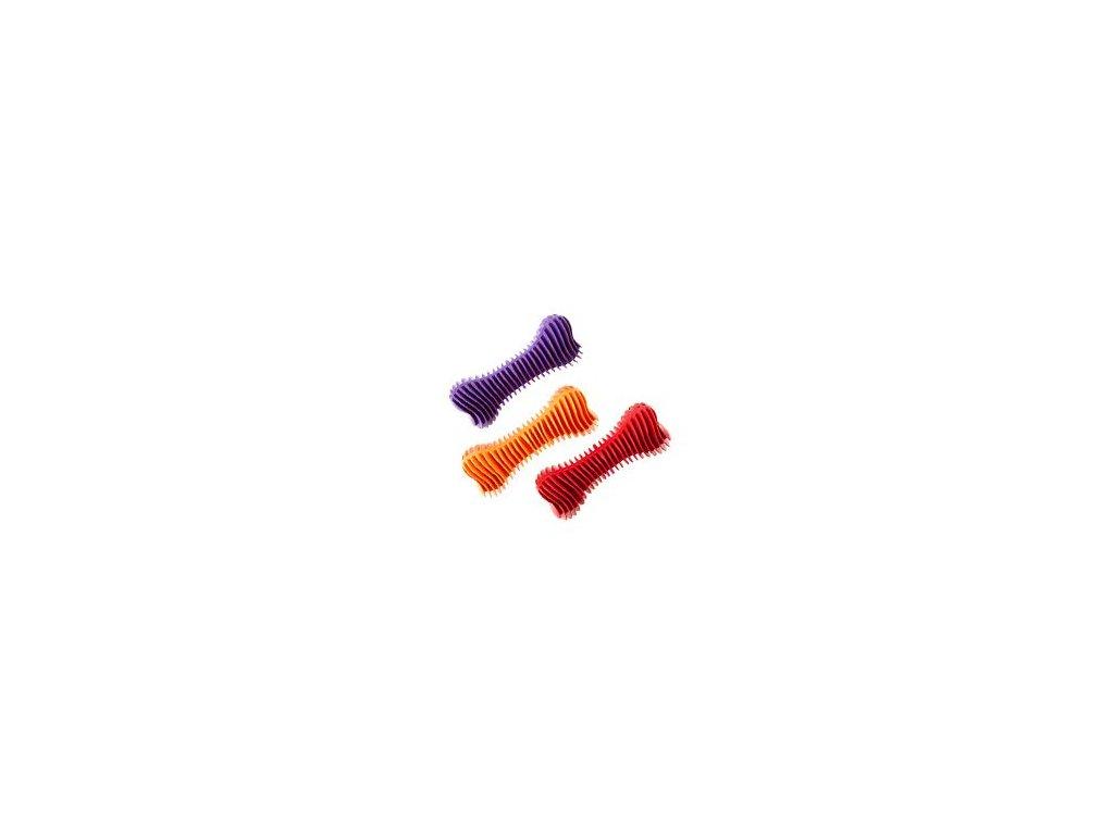 Hračka pes Kost Dentální  žebrovaná plovací