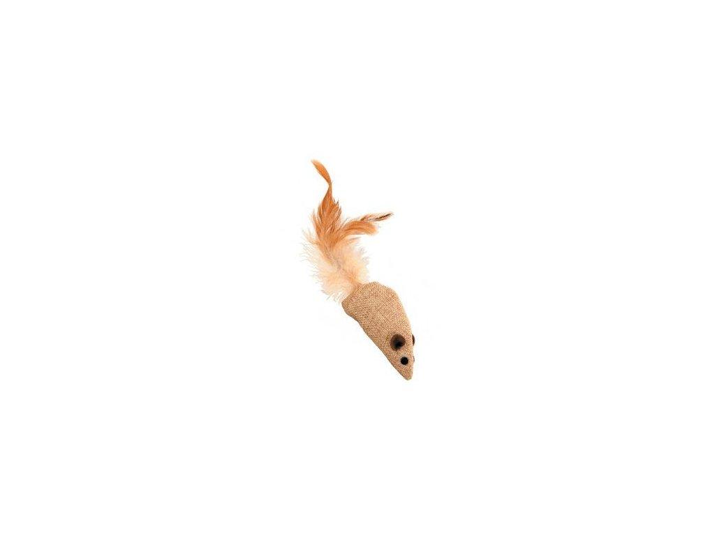 Hračka kočka myš textil