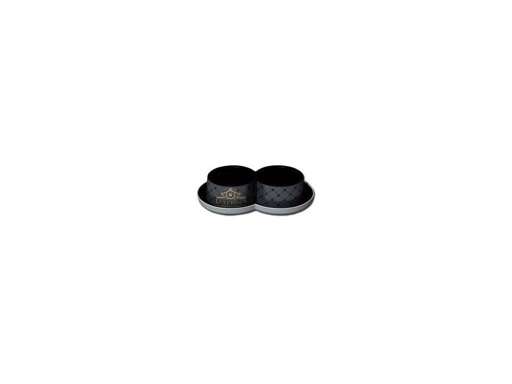 Miska plast LUXURIOUS double černá 2x350ml