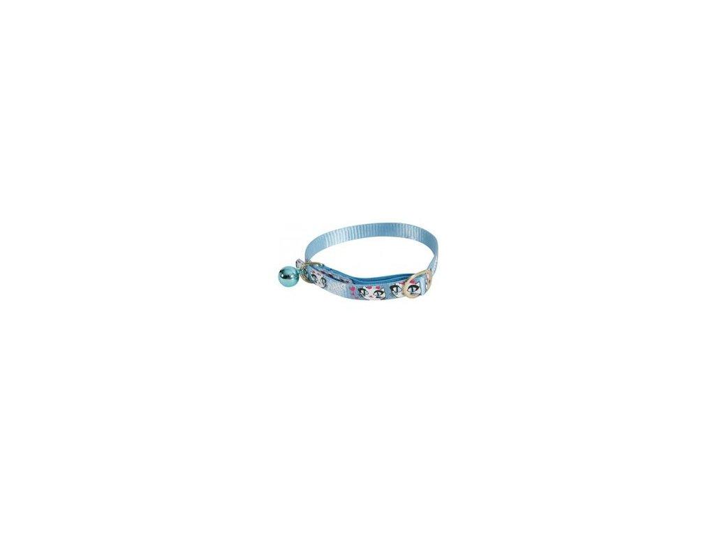 Obojek kočka LADYCAT nylon modrý 10mm/30cm Zolux