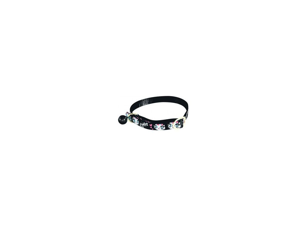 Obojek kočka LADYCAT nylon černý 10mm/30cm Zolux