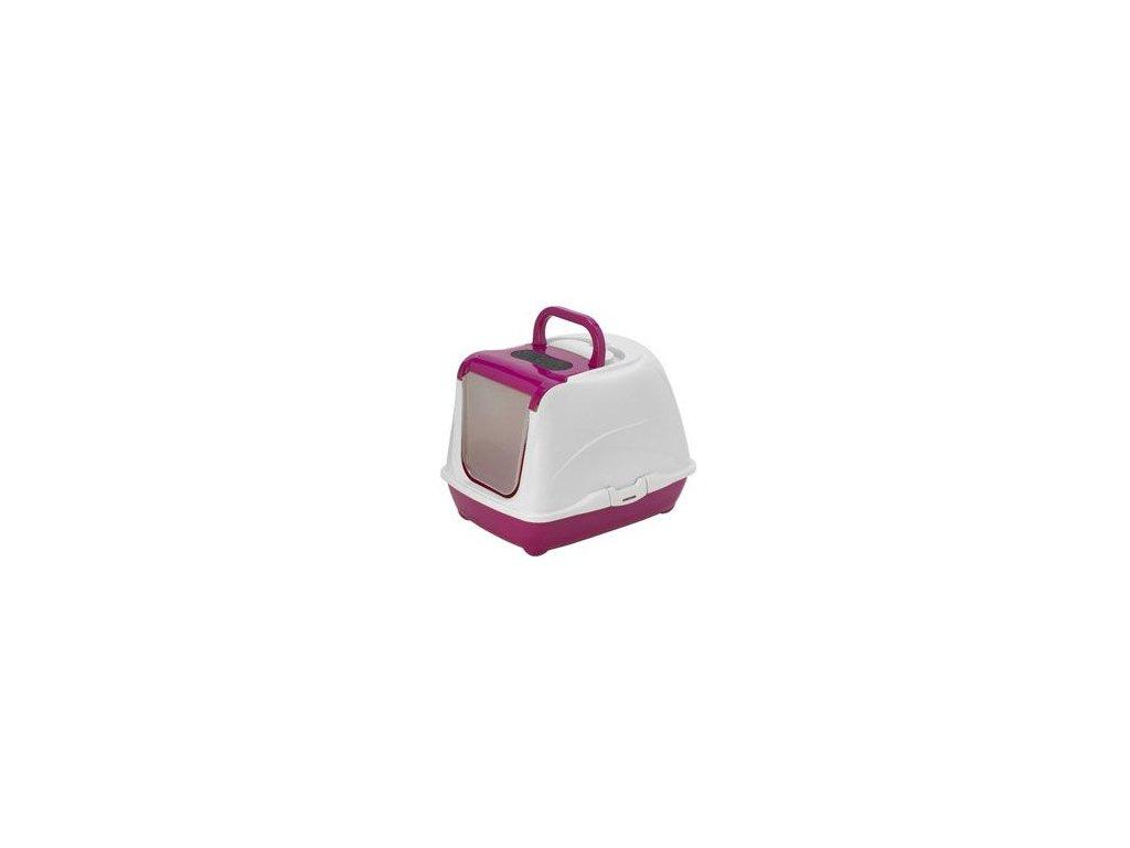 WC kočka FLIP CAT large/růžová 39x50x37cm