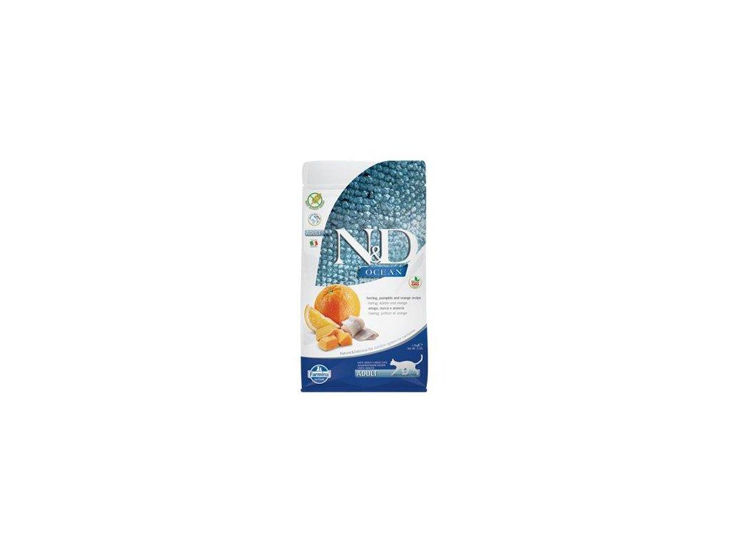 N&D OCEAN CAT Adult Herring, Pumpkin & Orange