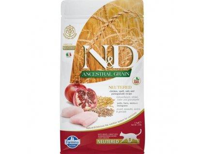 N&D Low Grain Cat Neutered Chicken & Pomegranate