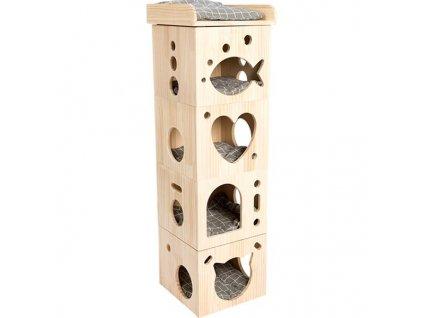 Domek cat dřevo Cave 128cm RW