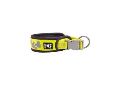 Obojek Hurtta Weekend Warrior neon citrónový 55-65cm