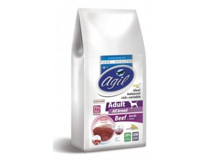 Agil Adult All Breed Low Grain Beef, Lamb, Tuna 10kg