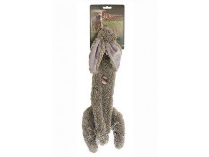 Hračka pes Zajíc pískací Skinneeez