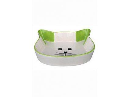 Miska keramická kočka-hlava