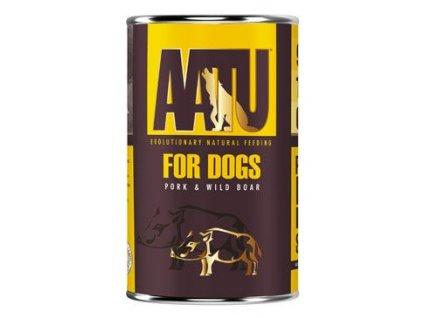 AATU Dog Wild Boar n Pork konz. 400g