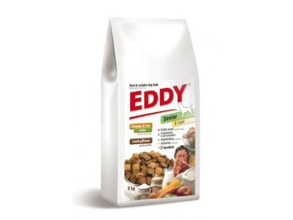 EDDY Senior & Light Breed polštářky s jehněčím 8kg