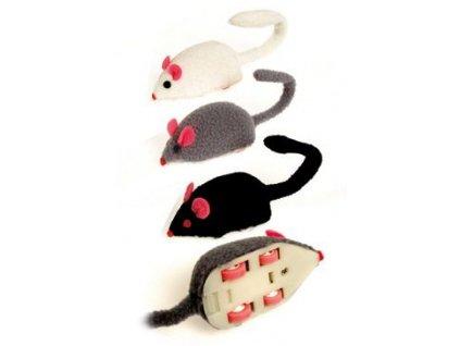 Hračka kočka Myš super rychlá natahovací plyš
